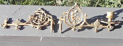 Antique Brass Piano Sconce Candle Holder Vintage Sconce