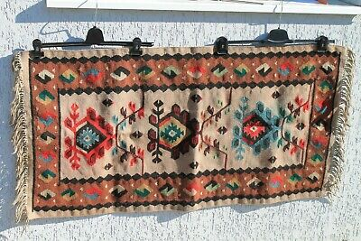 Antique Authentic Old Hand Ottoman Woolen Persian Rug Carpet Chiprovci 19Century