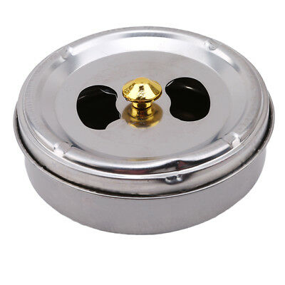 Stainless Steel Ashtray With Lid Windproof Cigarette Smoking Ash Holder Ashtray