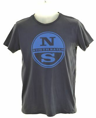 NORTH SAILS Boys Graphic T-Shirt Top 13-14 Years Navy Blue Cotton  LV03