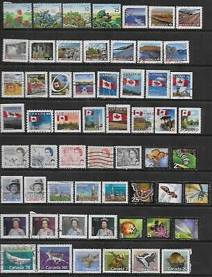 Canada Off Paper Collection Of Various  Used Stamps.# 1