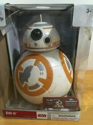 Disney Star Wars BB-8 Droid Talking Action Figure 25+ sound effects lights 9.5""