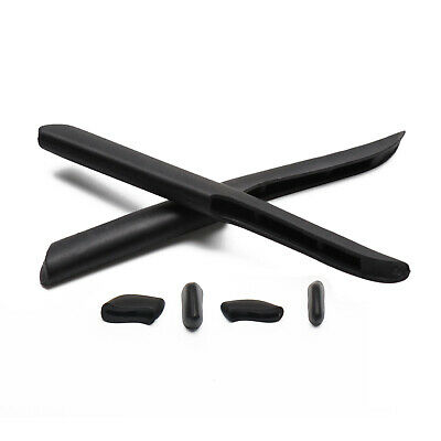 Rubber Kit Replacement Ear Socks & Nose Pieces For-Oakley Fast Jacket /XL -Black