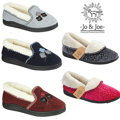 Ladies Faux Suede  Fur Lined Winter Loafers Comfort Casual Moccasin Women Shoes