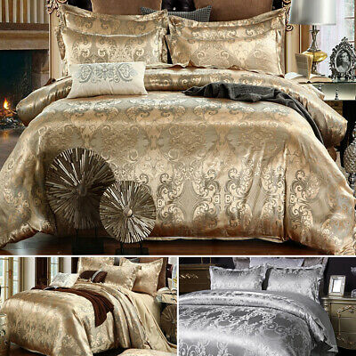 Luxury Duvet Quilt Cover Bedding Set With Pillowcase Single Double King Size UK