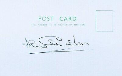 Jack Charlton HAND SIGNED White Card Leeds & England 1966 World Cup *IN PERSON*