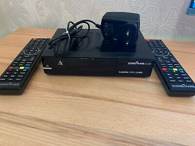 Zgemma H.2S Twin Tuner Satellite & Virgin Cable Receiver 2 remotes 6 months gift