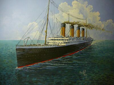 Original Acrylic painting by P.Hill- RMS Titanic- Ocean Liner 1912- 40 x 60cm.