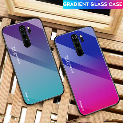 Shockproof Hybrid Gradient Glass Case Cover for Redmi Note 8 K20 Pro/Xiaomi 9Pro