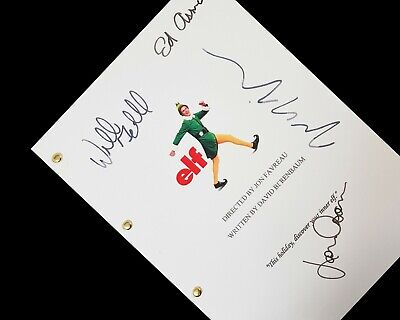 Elf Film Movie Script Screenplay with Signature Autographs Reprint Farrell