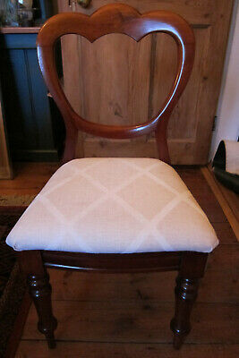 A lovely Set of 6 Victorian upholstered Dining Chairs - collection only (York)