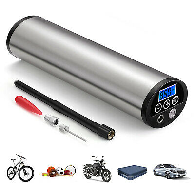 Portable LED Air Compressor Inflatable Pump Tire Tyre Inflator Car Motorcycle