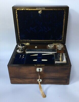 Antique Wooden Vanity Box With Secret Drawer Wooden Coromandel Travel Vanity