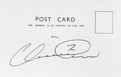 Henrik Larsson HAND SIGNED White Card - CELTIC & SWEDEN Legend *IN PERSON* COA