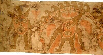 Pre-Columbian Peru Chancay Painted Textile Fragment