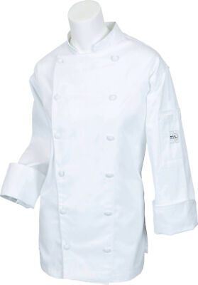 Mercer Renaissance Cutlery Women's Chef Coat (Trad. Neck) | White, Large
