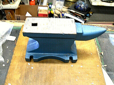 55 Lb. Rugged Cast Iron Anvil Extremely Rugged Round Horn Blacksmith Anvil