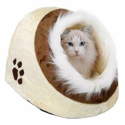 Pet House Pet Igloo Bed Warm Soft Padded Winter Cat Dog Cusion Kennel House Hut