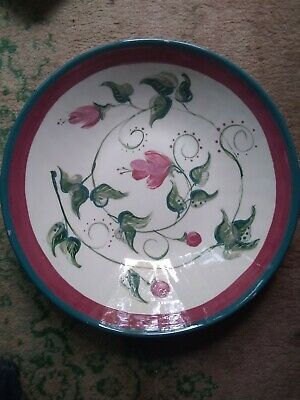 Vintage Decorative Floral Plate Hand Made/Painted SIGNED By Artist: M.K. Hannon