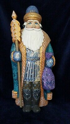 Hand Carved Painted Wooden Santa Claus #6 Christmas Russia USSR Soviet