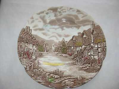 Johnson Brothers Olde English Countryside Brown Multi Color Dinner Plate