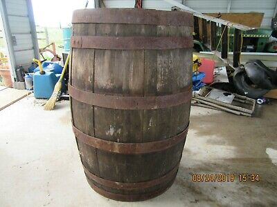 Antique Wooden Whiskey Barrel, American Distilling Co last filled 1/20/1960