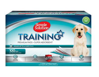 Simple Solution Puppy Training Pads, 100 Pack