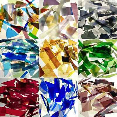 Stained glass offcuts/cullet -  mosaic, jewellery making, sea glass, craft 600g