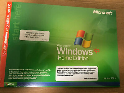 Microsoft Windows XP Home Edition Genuine OEM CD, with product  Key, Booklet