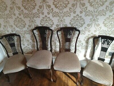 A Set of 4 Victorian Mahogany Chairs