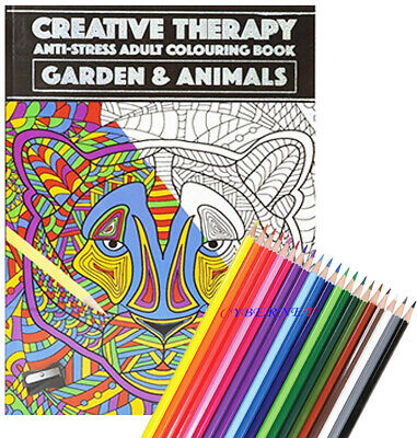 Adult Colouring Book A4 Size Colour Therapy, Stress Relief CALM ZEN