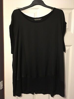 BLOOMING MARVELLOUS Black Satin Front Maternity Top Size XL / 20 Worn Once Only