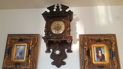 Vintage antique wall clocks year 1900 works but need tunning