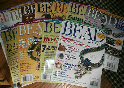 Bead and Button Magazines , 11 issues (BB05-12)