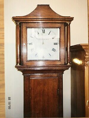 Antique Grandfather Clock Thomas Hubbard Junior Dorking c1790 Enamel Face 30 Hr