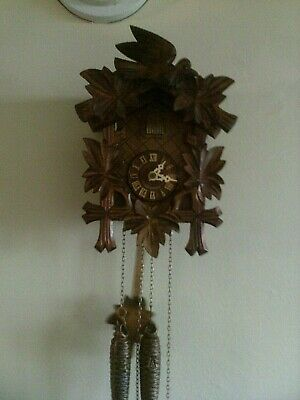 Used Small Cuckoo Clock: 1 Day Black Forest (Germany) Working.....