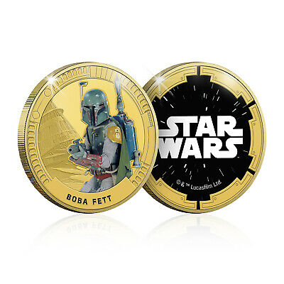 Star Wars Gifts Limited Edition Collectable Boba Fett Gold Plated Coin Medal