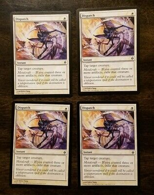 4x Dispatch New Phyrexia x4 ENGLISH Magic the Gathering MTG playset NM LP