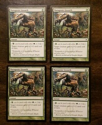 Mutagenic Growth Playset (MTG Magic: the Gathering) New Phyrexia x4 NM LP