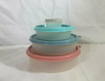 Tupperware Big/Med/Little Wonders & Smidget Country Blue/Aqua/Gray/Dusty Rose