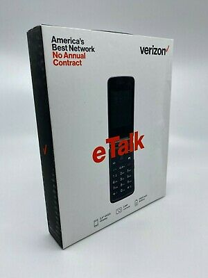New & Sealed - Verizon Wireless Prepaid eTalk Flip Phone Gray 1.1 GHz Quad-Core