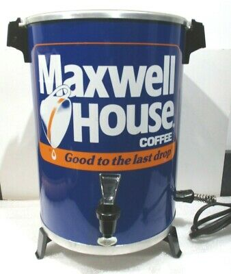 Vintage West Bend Maxwell House Coffee Pot Maker 30 Cup Metal Percolator