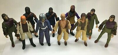 10 MEGO PLANET OF THE APES FIGURES Lot Near Complete Very Clean 1974 Minty