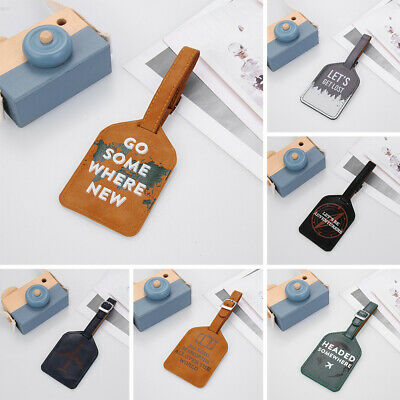 Accessories Leather Luggage Tag ID Address Tags Suitcase Label Baggage Claim