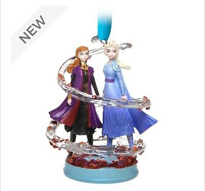 Disney Store Anna and Elsa Christmas Ornament, Frozen 2