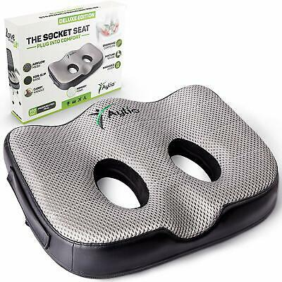 Socket Seat - Sit Bone Relief Cushion for Butt, Hamstrings, Ischial Tuberosity