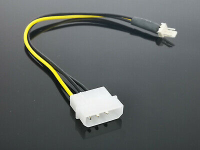 1PCS 4-Pin Molex/IDE to 3-Pin CPU/Case Fan Power Connector Cable