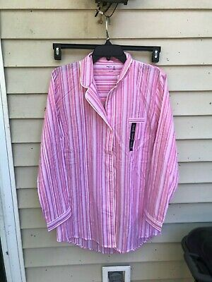 WOMENS GAP BODY Sleep LONG SLEEVE SHIRT BUTTON UP SIZE M