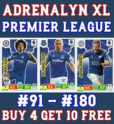 Panini Premier League Adrenalyn Xl 2019/20 Base Cards 91 - 180 Buy 2 Get 10 Free