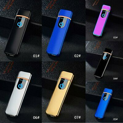 Windproof Touch Sensor USB Rechargeable Flameless Electric Cigarette Lighter AU